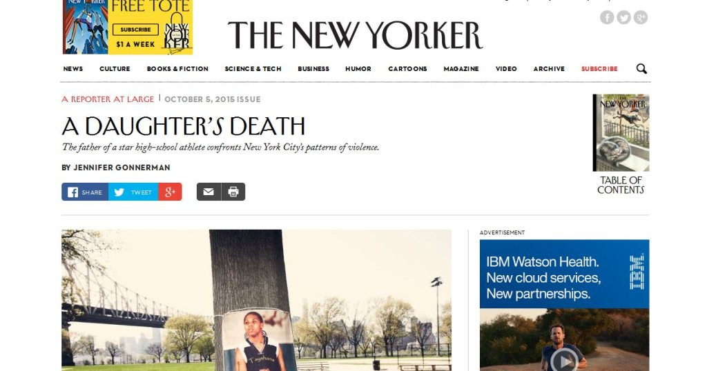 the new yorker article a daughters death tayshana chicken murphy